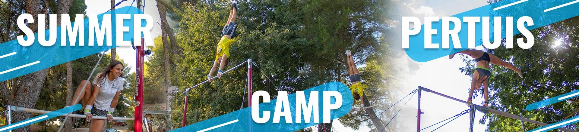 Les agrès de gym extérieurs au Summer Camp Pertuis