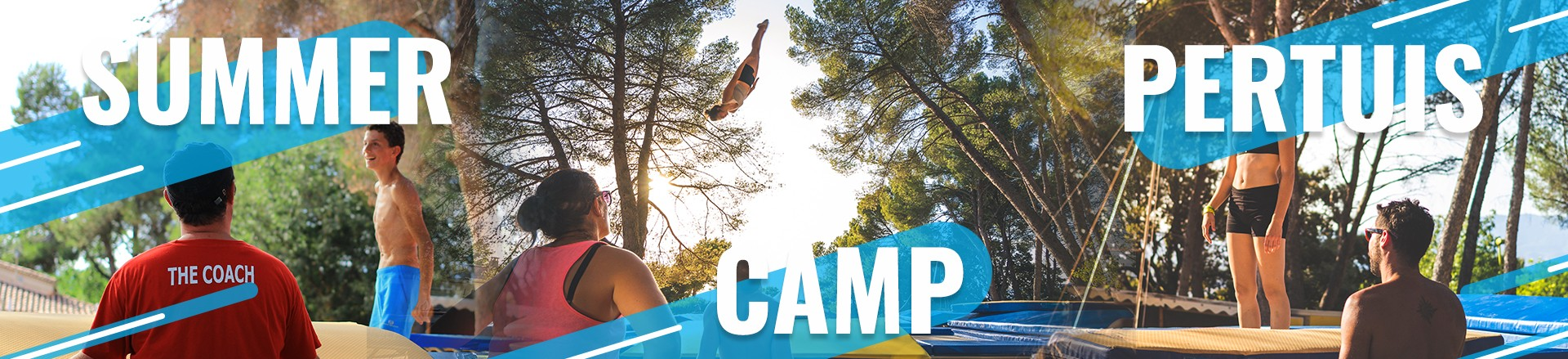 staff trampoline au Summer Camp Pertuis