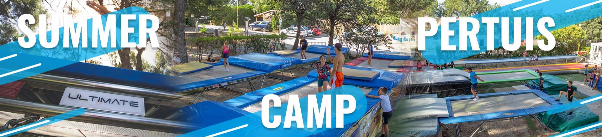 Le parc trampoline du Summer Camp Pertuis