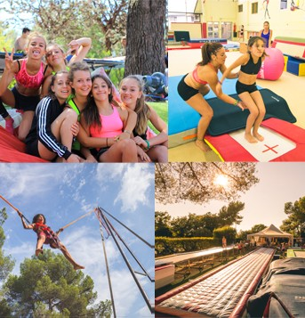 Stage été semi intensif gym trampo ou tumb au Summer Camp Pertuis (10h / sem)